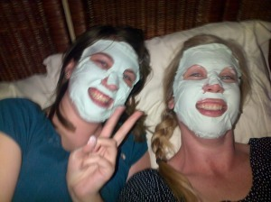 Masks + Laughter = Good times