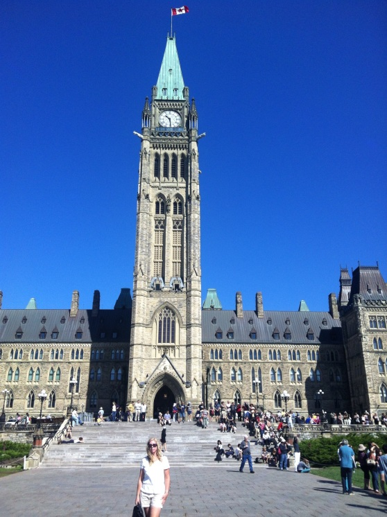 Me on the Hill with the Peace Tower and Centre Block