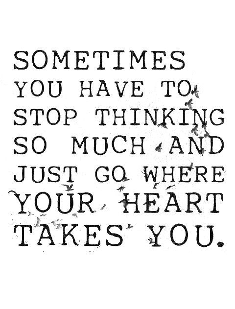 heart and overthinking